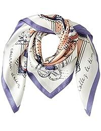 [光束 设计] 围巾 丝绸 紫色 50605504C 日本 52cm×52cm (FREE サイズ)