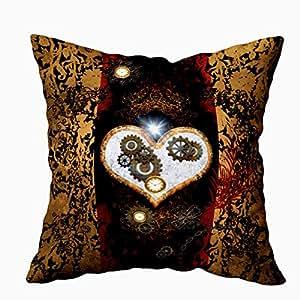 EMMTEEY 家居装饰沙发靠垫套,乡村向日葵罐装饰方形拉链和双面印花枕套 40.64X40.64cm,2 件套 Multi 8 20X20
