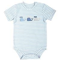 Stephan Baby 蓝色条纹按扣式尿布套,三只小鲸鱼,0-3 个月