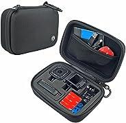 CamKix GoPro HERO4 Session 相机和配件盒 - 旅行或存放的理想选择 - 完全保护 - 完美贴合 - 登山扣和超细纤维清洁布.D0031-SMA-BLA Small - HERO4 Session 黑色