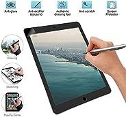Paper Like 屏幕保护膜绘图纹理纸 哑光 PET 薄膜 适用于 iPad 7.9、9.7、10.2、10.5、11 和 12.9 英寸,可兼容铅笔和脸部 ID 10.2 inch