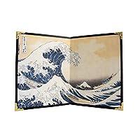 Janese 可折叠屏幕 Byobu - Hokusai 创作的 Great Wave Off Kanagawa 20.32 厘米 × 13.97 厘米