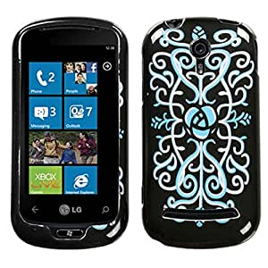 Mybat Protector Cover for LG C900 - Retail Packaging - Boutique Night