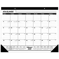 AT-A-GLANCE 2020 办公桌日历,书桌垫,53.34 x 43.18 厘米,标准,横格块 (SK2400)