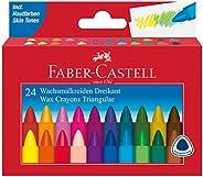 Faber-Castell 辉柏嘉 120024 三角形蜡笔,24支装,1支