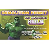 Signs 4 Fun Ncbidh Hulk's Driver's 许可证