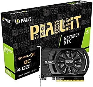 Palit GeForce GTX 1650 StormX OC 4GB GDDR5 显卡(GeForce GTX 1650,4GB,GDDR5,128 位,4096 x 2160 像素,PCI Express x16 3.0)