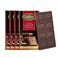 Caffarel 口福莱 排装57% 可可黑巧克力100g*4(意大利进口)(亚马逊自营商品, 由供应商配送)