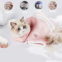 LlamaBusiness 猫咪*包,猫束缚包,防咬防刮,适用于沐浴*检查*修剪 粉红色