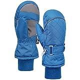 Andorra 儿童防风雨 Thinsulate 衬里冬季手套,长雪袖口