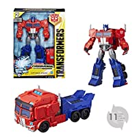 Hasbro 孩之宝  Transformers 变形金刚系列 E2067ES0  -  Cyberverse Action Attackers Ultimate 玩偶,擎天柱机器人动作玩偶