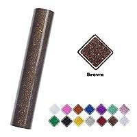 VINYL FROG 闪光热转印乙烯基卷 25.4 厘米 x 152.4 厘米 用于剪影迷彩热压和板机机 棕色
