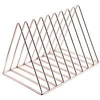 文件夹杂志夹三角形钢制报纸夹杂志存放 10 个部分用于办公室家居装饰,玫瑰金由 Cq acrylic 出品