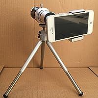 Suoshi 索士 手机镜头望远镜12倍长焦距高清(3-1000米对焦 8片5组多层镀膜镜头 真正高清)自拍杆平板电脑苹果iphone6s等手机通用外置镜头专业望远观鸟镜头 SY4