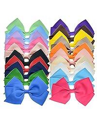 20 粒丝带蝴蝶结发饰,适合小学生和大学龄女孩