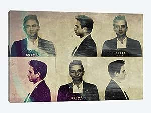"iCanvasART MUS10-1PC6-60x40 Johnny Cash 5by5collective 帆布印刷,101.6cm x 3.81cm x 152.40cm 26"" x 18"" MUS10-1PC3-26x18"