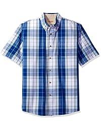 牧馬人 authentics 男式 big-tall 短袖經典格子襯衫