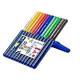 Staedtler 158 sb12 – Ergo Soft Jumbo 彩色铅笔, 4毫米, 12件 aufstellbarer Box, farblich sortiert, 12er Etui