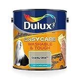 AmazonUkkitchen Dulux Easycare 可水洗且坚固的哑光油漆 - 2.5L Overtly Olive 5293146