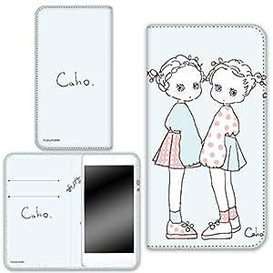 caho 保护套双面印花翻盖蓬松手机保护壳翻盖式适用于所有机型  ふわふわE 19_ MEDIAS for BIGLOBE LTE NE-202