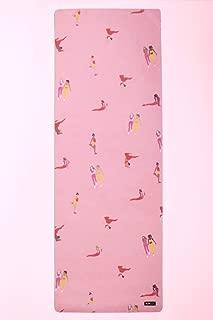 POPFLEX 瑜伽垫 – 优质 5 毫米厚人造麂皮垫带超抓地力,防滑,高*缓震,支撑瑜伽、普拉提、健身房和健身 – 包括瑜伽带