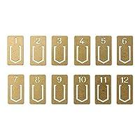 MIDORI 黄铜制 复古字母书签