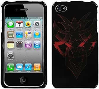 MYBAT Slim and Stylish Protective Case for your iPhone 4-1 Pack - Retail Packaging Heart of Darkness (Black)