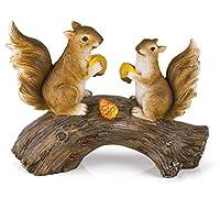 Squirrels on a Log 太阳能花园灯