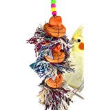 Bonka Bird Toys 11241 三重篮球 Plucker 玩具鹦鹉笼 非洲灰色 Conure Quaker。 优质产品美国手工制造。