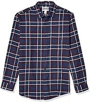 Amazon Essentials Men's Long-Sleeve Large-Scale Plaid Flannel S