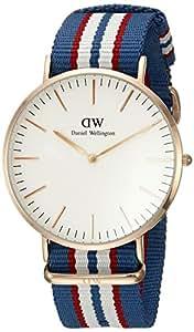 Daniel Wellington 丹尼尔•惠灵顿 瑞典品牌 Classic系列 玫瑰金表圈表扣 石英手表 男士腕表 0113DW