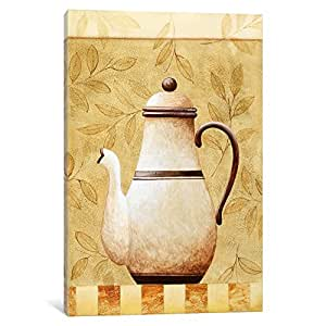 iCanvasART 9074-1PC3 White Teapod Canvas Print by Pablo Esteban, 0.75 by 12 by 8-Inch
