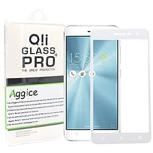 zenfone 3ZE 屏幕保护膜–aggice 1.5英寸2.5d 圆边钢化玻璃屏幕保护膜适用于华硕 ZenFone 3ZE Ivory white