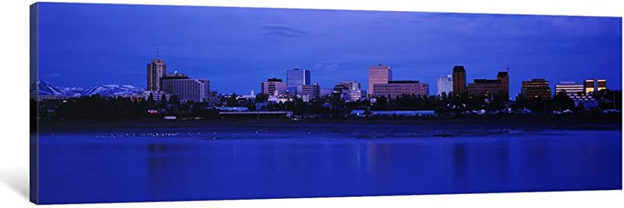 "iCanvasART 1 Piece Buildings at The Waterfront, Anchorage, Alaska, USA Canvas Print by Panoramic Images, 48 x 16""/0.75"" Deep"