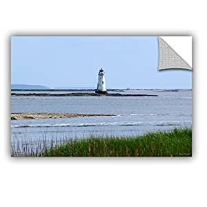 """ArtWall Lora Mosier Tybee Islands Unofficial Lighthouse Appeelz Removable Graphic Wall Art, 12 by 18"""""""
