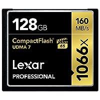 Lexar Professional 1066x 128GB VPG-65 紧密快闪卡(读取速率可达 160MB/s) w/Free 照片恢复 5 软件 LCF128CRBNA1066