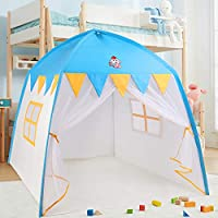 Springbuds 公主城堡玩具帐篷 女孩大型玩具屋儿童帐篷 儿童室内室外游戏带便携包 便携式男孩和女孩生日礼物 51 x 39 x 51 英寸(长 x 宽 x 高)