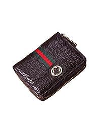 女式男式 RFID 屏蔽信用卡卡包钱包皮革保护壳 小号 黑色