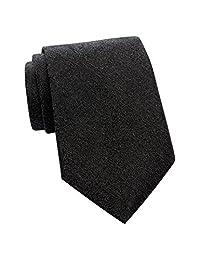Calvin Klein 男式真丝粘胶纤维混纺修身领带新奖章灰色