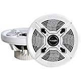 Bazooka MAC8100W 8-Inch Marine Coaxial, Set of 2 (White)