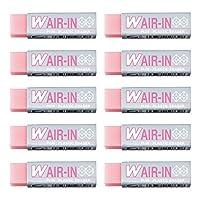 PLUS 橡皮擦 W AIR-IN橡皮擦 10个装 粉色 36-433×10