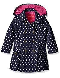 London Fog Girls Lightweight Polka Dot Trench Coat