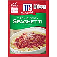 McCormick Thick And Zesty Spaghetti Sauce Mix, 1.37 oz (Case of 12)