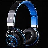 肯索亚 蓝牙耳机头戴式 折叠无线音乐运动插卡耳塞通用华为荣耀9 Mate10 苹果8 Plus 三星S7 OPPO R11 (ST7, 蓝色)