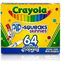 Crayola 绘儿乐 点状紧凑型可洗记号笔,64支,非常适合在家里或学校使用,一套完善的美术工具