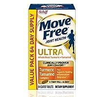 Move Free 益节 姜黄和罗望子果 关节补充剂, 64粒,每天1小粒