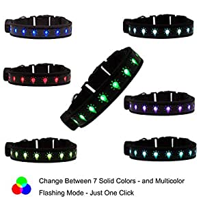 glowseen ® USB 充电 LED 发光狗*项圈–坚固 nylon-easy TO charge-for FUN & * 橙色 S-Small