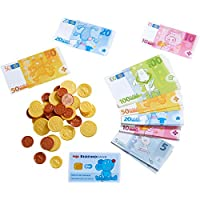 Haba 304131 Shops Money Box with Banknote 由耐用纸质玩具制成,适合 3 岁及以上儿童