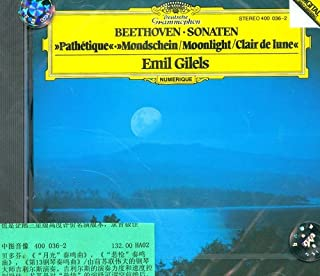 进口CD:贝多芬三首钢琴奏鸣曲(企鹅三星级评价名演版本)(400 036-2)(CD)