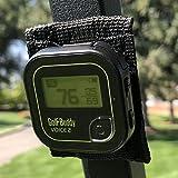 Bushwhacker 磁性 GPS 支架适用于高尔夫球车轨道 - 适合大多数 GPS 带皮带夹 - 支架附件测距仪杆配件盒快速